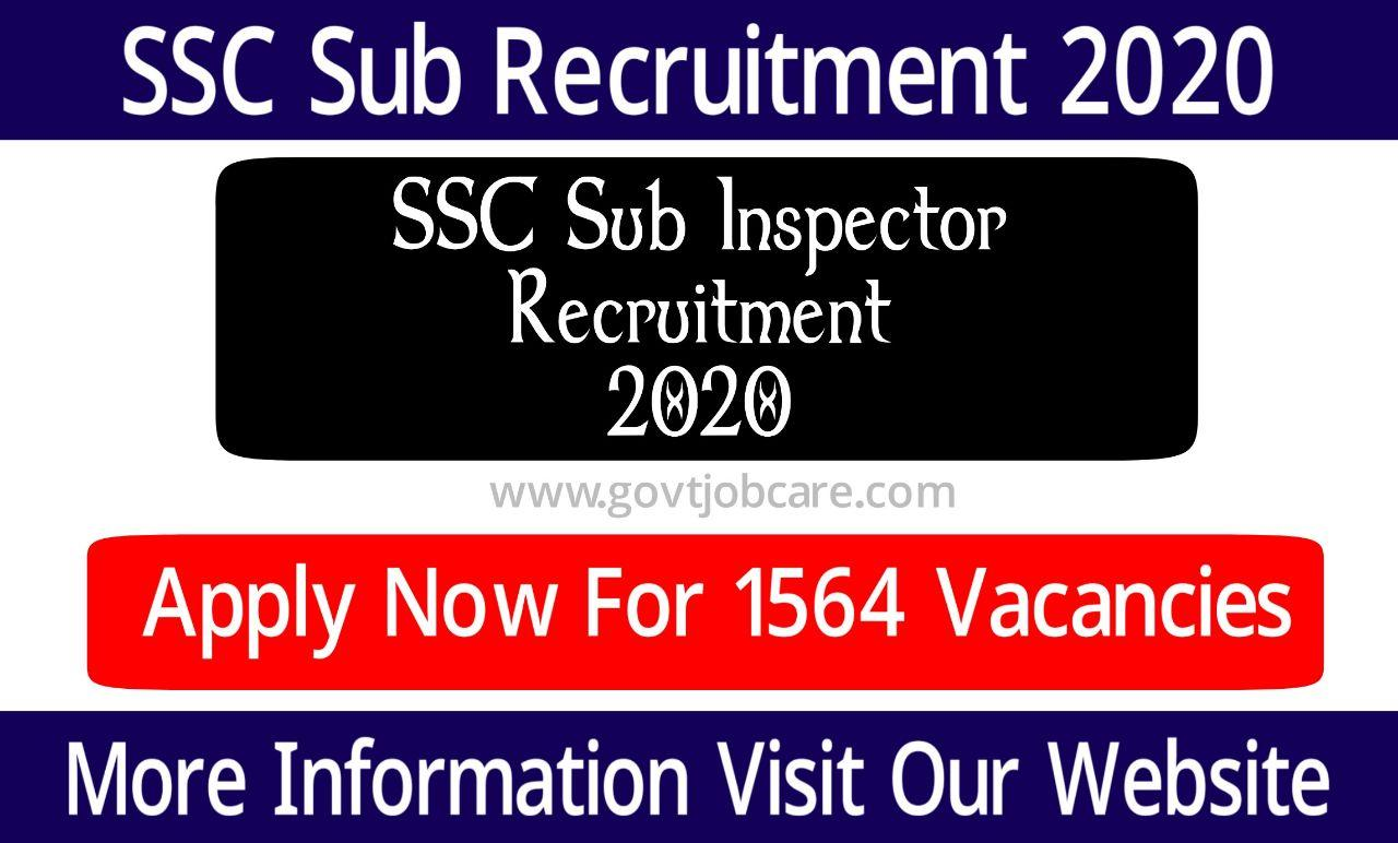 SSC Sub-Inspector and Central Armed Police Forces Recruitment